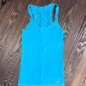 Hollister Blue Lace Tank Top.